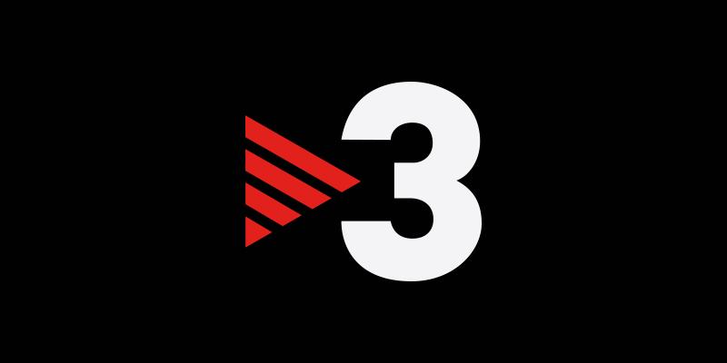 Logo TV3 sobre fondo negro